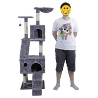 US Domestic Delivery Cat Furniture Cat Jump Scratching Board At Home Wooden Funny Training Cat Tree