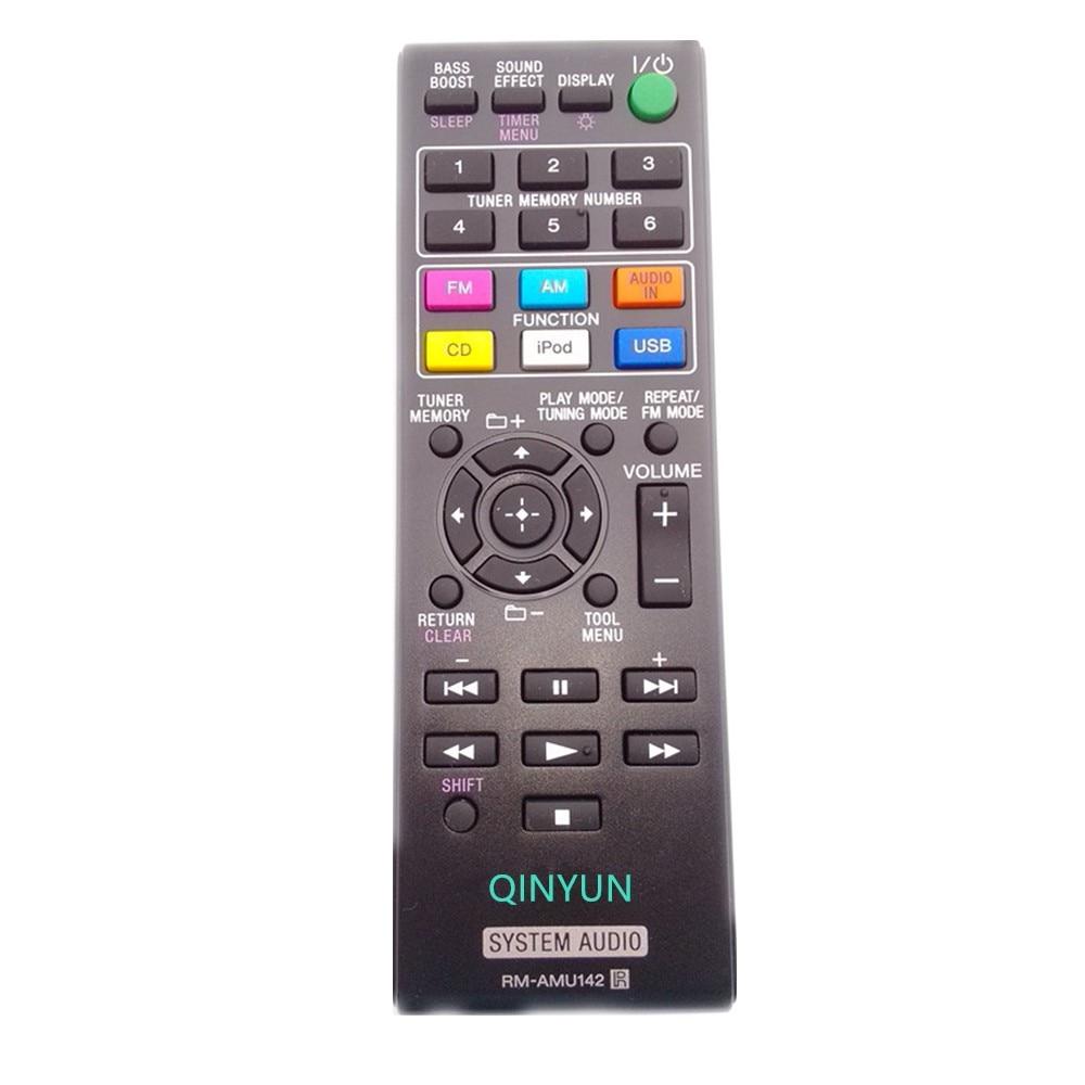 RM-AMU142 Remote Control For Sony CD Micro Hi-Fi CMT-50IP Audio System микросистема dvd sony cmt sbt40d black