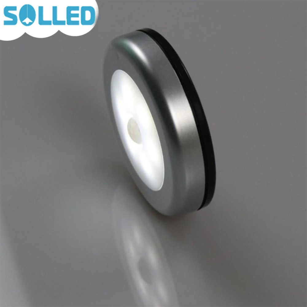 SOLLED Infrared PIR Motion Sensor 6 Led Night Light Wireless Detector Light Wall Lamp Light Auto On/Off Closet Battery Power battery magnetic led night light infrared ir motion sensor wireless led wall lamp auto on off for closet stairs bedroom cabinet