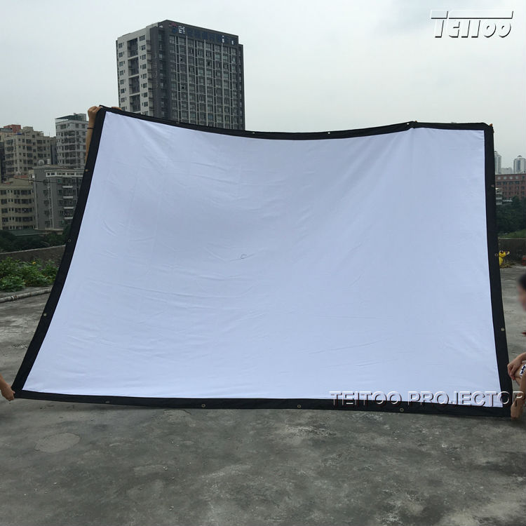 150 Inch 4:3 Folding Portable Projection Screen for Any 3D LED DLP HD Projectors
