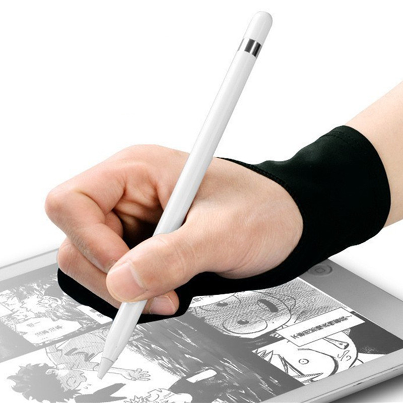 Drawing Palm Protective Sleeve Anti-missing Two-finger Gloves Electronic Digital Screen Painting Writing Protector Sleeve