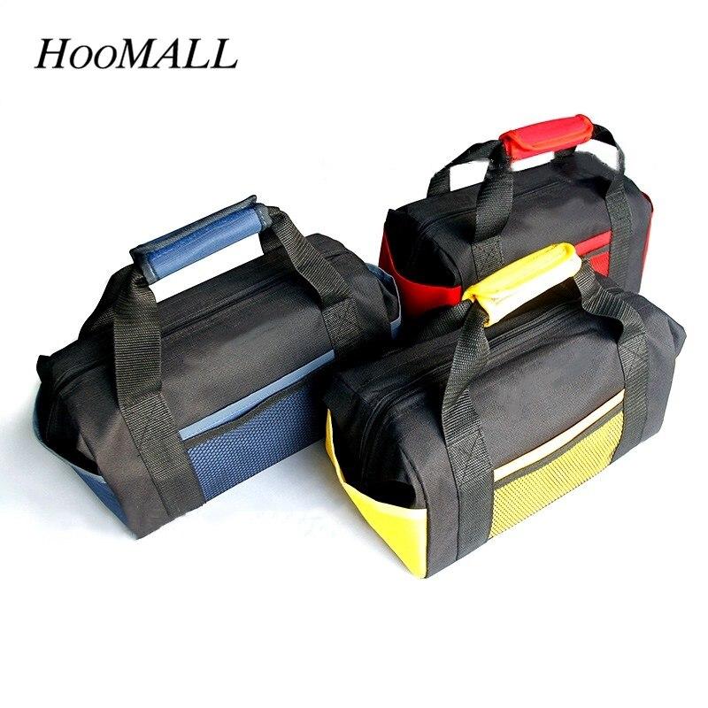 Hoomall Multi-function Tool Kit Double Thickened Waterproof Handheld Tool Bag Repair Set Oxford Cloth Wear-resistant Tool Bag st 5310 330 230 250mm multi functional 7 pockest 5 hole tool bag repair tool kit