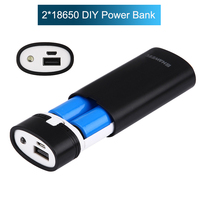 Dual USB Power Bank Case Kit DIY 2*18650 Battery Charger Box DIY 5V Mobile Phone Charger Shell Case for iphone xiaomi LCD Screen|Battery Storage Boxes| |  -