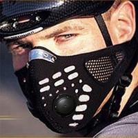 Wosawe anti-vervuiling fiets fiets stad fietsen motorfiets gezichtsmasker cover buitensporten mond-moffel stofdicht met filter