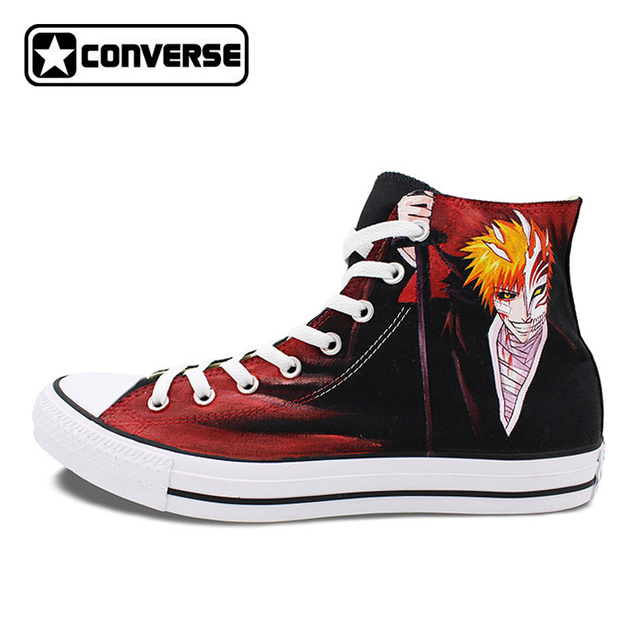 73633861b35e Kurosaki Ichigo Men Women Converse All Star Custom Design Bleach Anime Shoes  Woman Man Hand Painted Sneakers Cosplay Gifts