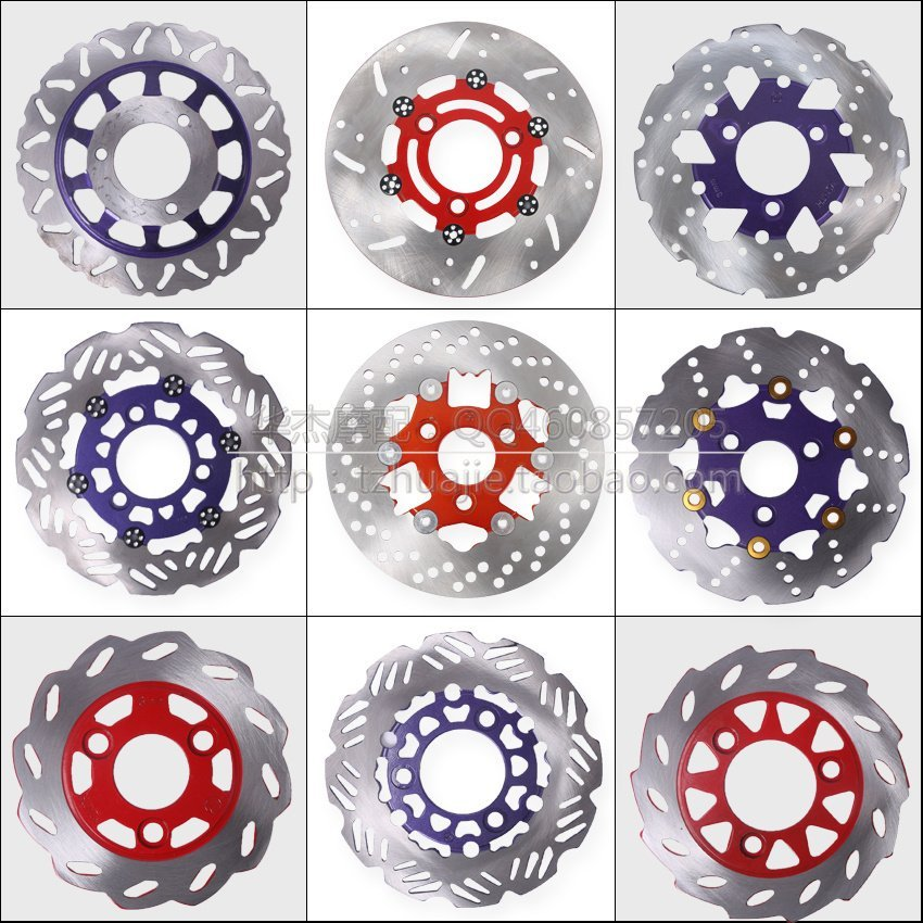 Motorcycle modified aluminum alloy brake disc 155mm 180mm 190mm 200mm 220mm 260mm size Motorcycle aluminum alloy brake disc motorcycle aluminum