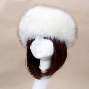 Women 2016 Lady Russian Tick Fox Fur Winter Female Hats For 1ae5ee32682f