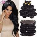 Brazilian Body Wave With Closure 13x4 Ear To Ear Lace Frontal Closure With Bundles Brazilian Virgin Hair With Closure Human Hair