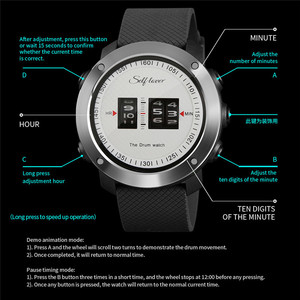 Image 5 - 2019 Fashion New Design Mens Sport Watch Drum Roll Watch Stunning Unique Rolling Time Rubber Silicone Strap Mens Clock relogio