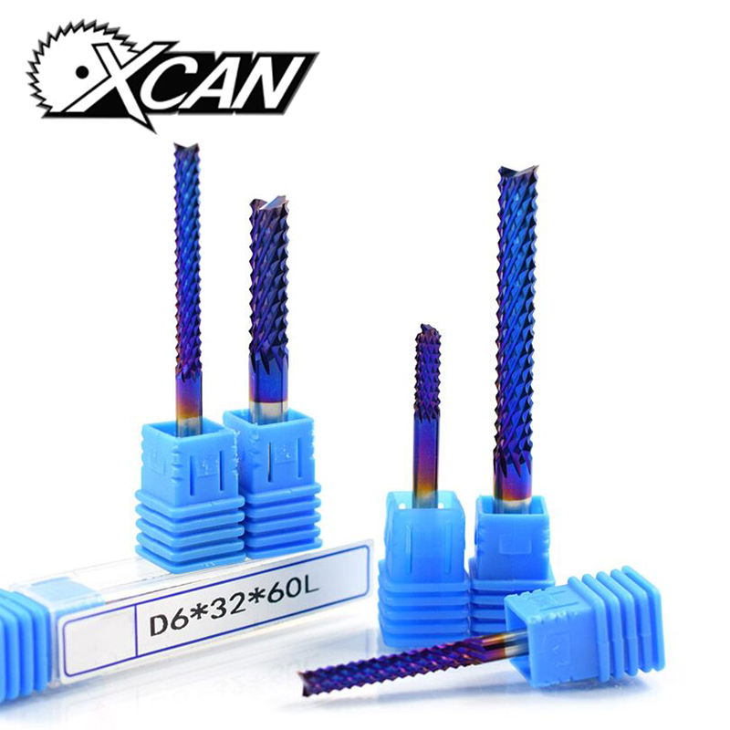 XCAN 1pc 4mm/6mm Shank Tungsten Carbide Corn Milling Cutter Blue Coated End Mill for Engraving Machine CNC Router Bits XCAN 1pc 4mm/6mm Shank Tungsten Carbide Corn Milling Cutter Blue Coated End Mill for Engraving Machine CNC Router Bits