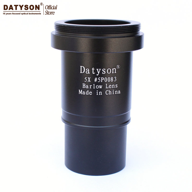 5x Barlow Lens 1.25 Fully Multi Coated Metal Thread M42 for Astronomical Telescope Eyepiece Ocular Accept T Ring