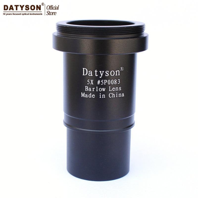 """5x Barlow lente 1,25 """"totalmente Multi recubierto roscado metálico M42 para telescopio astronómico Ocular aceptar anillo T"""