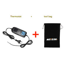 Meterk AC 90V~250V mini Thermoregulator Digital Thermometer LED Breeding Temperature Controller Thermostat + Socket + tool bag(China)