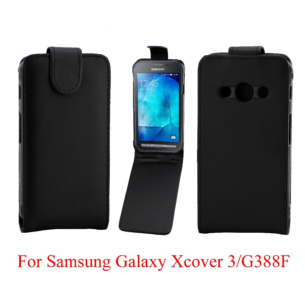 Phone Bags Cover For Samsung Galaxy Xcover 3 G388F phone case Back coque PU leather Flip Vertical Up-Down Open skin pouch