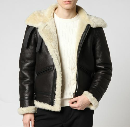 Men's Genuine Leather Coat Woolen Lining Liner Real Sheepskin Pilot Bullet Jacket Warm Thick Clothing For Winter Black Plus 3xl