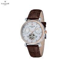Наручные часы Earnshaw ES-8046-04 мужские механические с автоподзаводом на кожаном ремешке