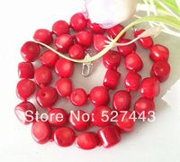 Wholesale Rare Natural 8 12mm Red Sea Coral Necklace
