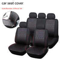 Dewtreetali Universal Soccer Ball Style Car Seat Covers Jacquard Fabric Fit Most Brand Vehicle Interior Accessories