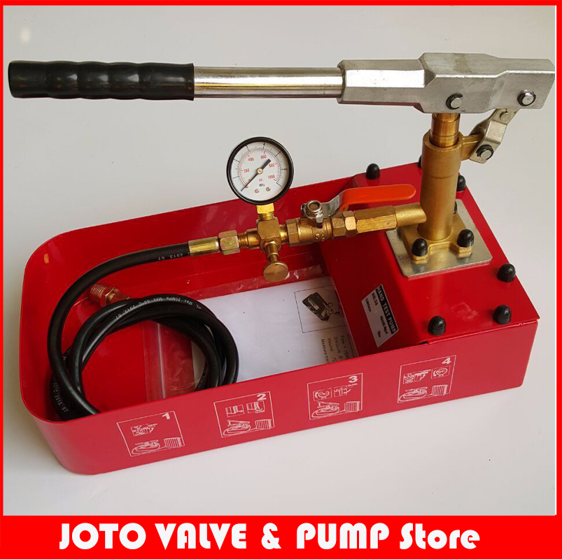 Manual Hydraulic Pump Testing Pump Pipeline Pressure Test tool 6MPA 0-50KG цена
