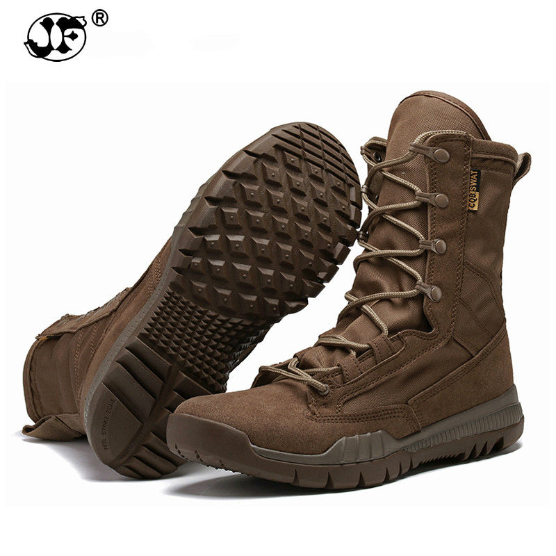 Fashion Outdoor Army Boots Men Microfiber cloth Military Boots Tactical Combat Boots Summer/Winter Desert Boots Size 38-45 8896 fashion army boots men military boots tactical combat boots waterproof summer winter desert boots size 35 46 ids658