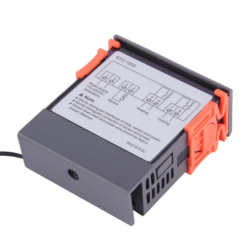 Universal Temperature Controller Thermostat Digital Stc 1000 5099c 220 V Aquarium W Sensor All Purpose Dropshipping 2017 New In Instruments