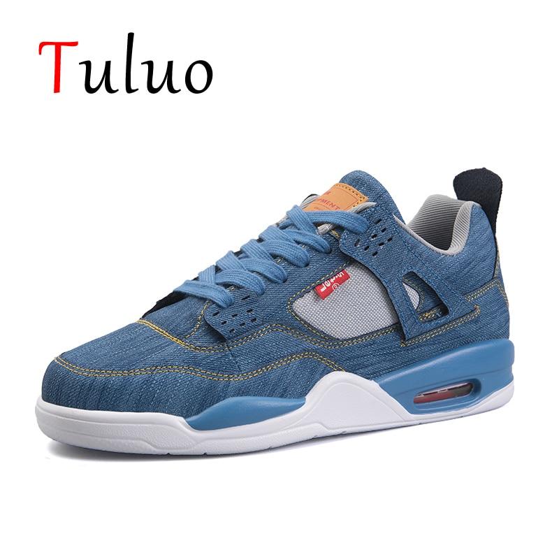 TULUO Basketball-Shoes Sneakers Athletic-Trainers Outdoor-Basket Air-Cushion Men Jordan