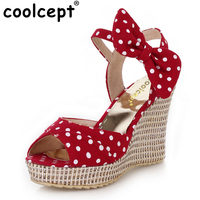 Free Shipping NEW Wedge Sandals Platform Fashion Women Dress Sexy Slippers Shoes Casual Footwear P4049 EUR
