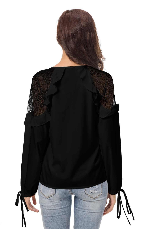 Nowy poliester bawełna regularne stałe bluzka Zanzea Vadim Limited Blusa Plus rozmiar darmowa wysyłka 2019 styl topy koronki koszula