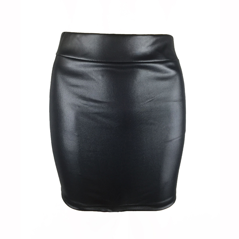 Newly Women Summer Matte Bodycon Skirts Faux Leather Thin Slim Fit Elastic Waist VK-ING