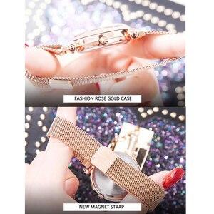 Image 5 - Luxus Leucht Frauen Uhren Starry Sky Magnetische Weibliche Armbanduhr Wasserdicht Strass Uhr relogio feminino montre femme