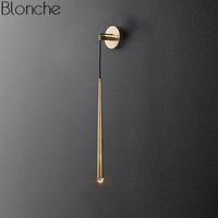 Modern Gold Led Wall Lamp American Retro Water Drop Crystal Wall Light Indoor Lighting Mirror Bedroom Sconce Fixtures Home Decor