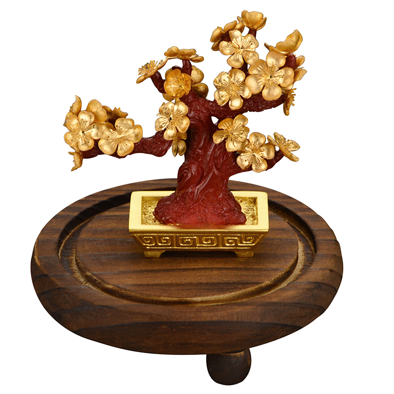 Feng Shui Fortune Tree Gold Foil Money Tree Bonsai Office Tabletop Lucky Wealth Ornaments Gifts Home Decoration With Gifts Box