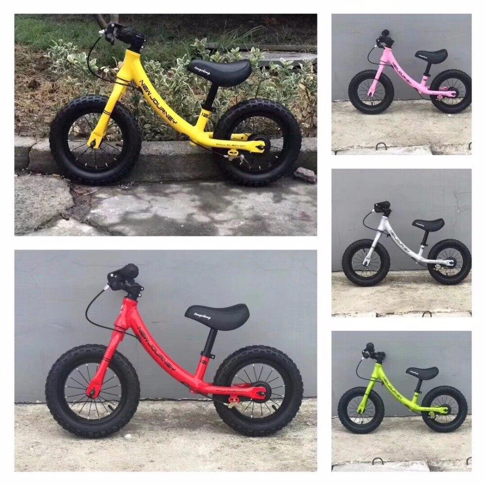 Poussettes vélos enfant Balance Buggy coulissant jouet vélo bébé enfant marcheur vélo pour 2-6 ans enfants pédale-moins 12 pouces vélo enfant - 2