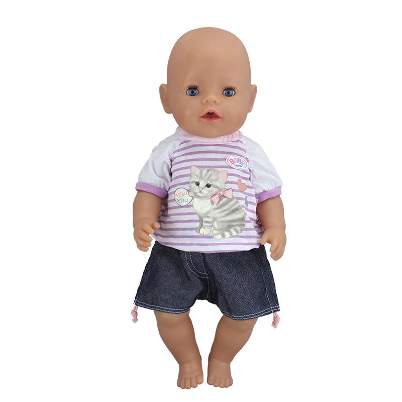 Dress Suits Fit For 43cm Baby Doll  Reborn Doll 17 inch Doll ClothesDress Suits Fit For 43cm Baby Doll  Reborn Doll 17 inch Doll Clothes