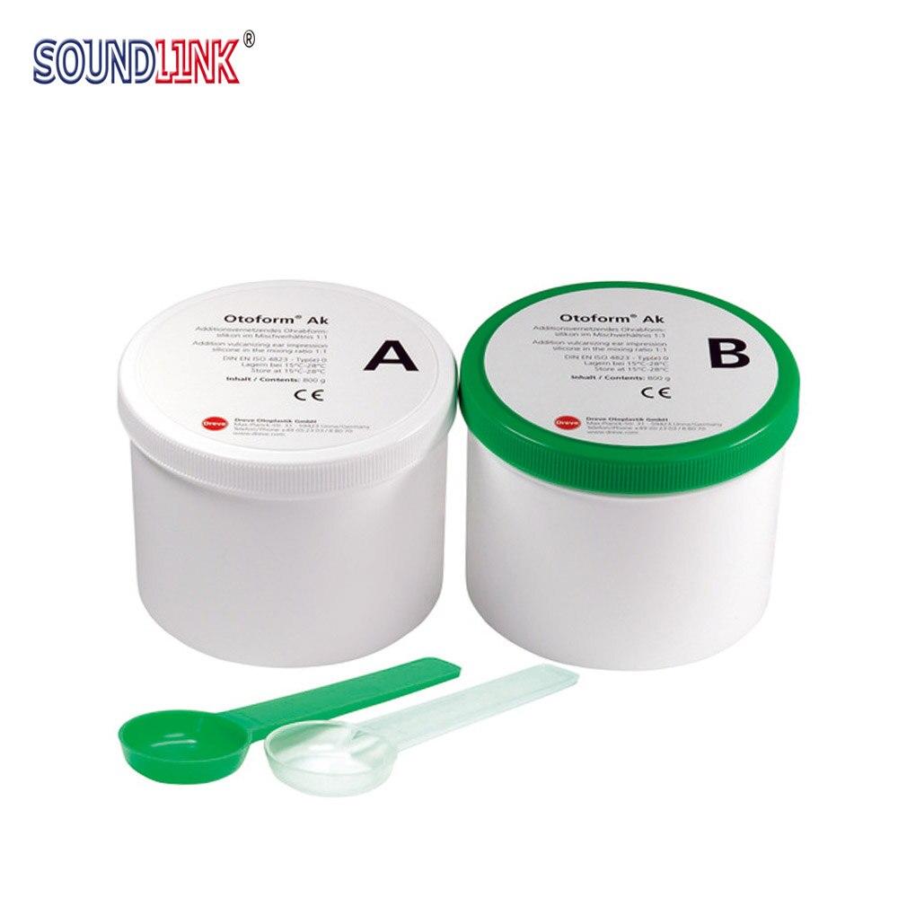 Dreve Ear Impression Material Green White 35 Shore 800g 2