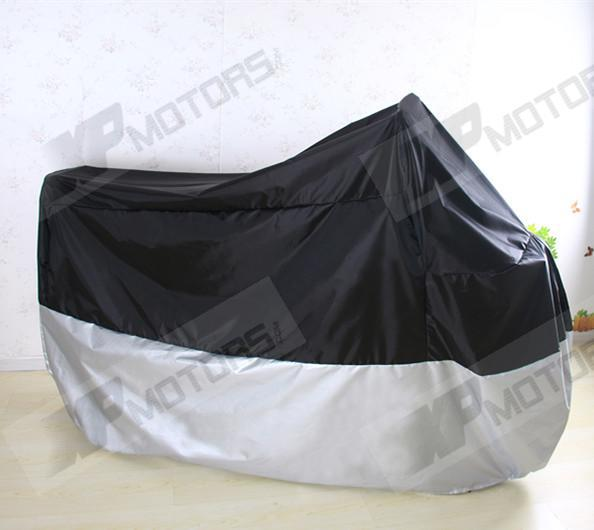 Motorcycle Waterproof <font><b>Cover</b></font> Fits For <font><b>Yamaha</b></font> <font><b>XVS</b></font> Drag Star/V Star 400 <font><b>650</b></font> 950 V Star1100 1300 XXL Size 245*105*125cm image
