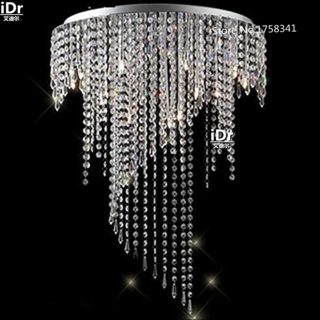 Crystal led energy saving chandelier pendant lamp crystal ceiling crystal led energy saving chandelier pendant lamp crystal ceiling light fixture hanging bedroom lamp hall aloadofball Gallery