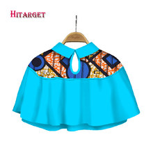 Hitarget 2017 African Shawl Necklaces for Women Print Cotton Chokers Cape Ankara Tribal Handmade False Collar WYB240