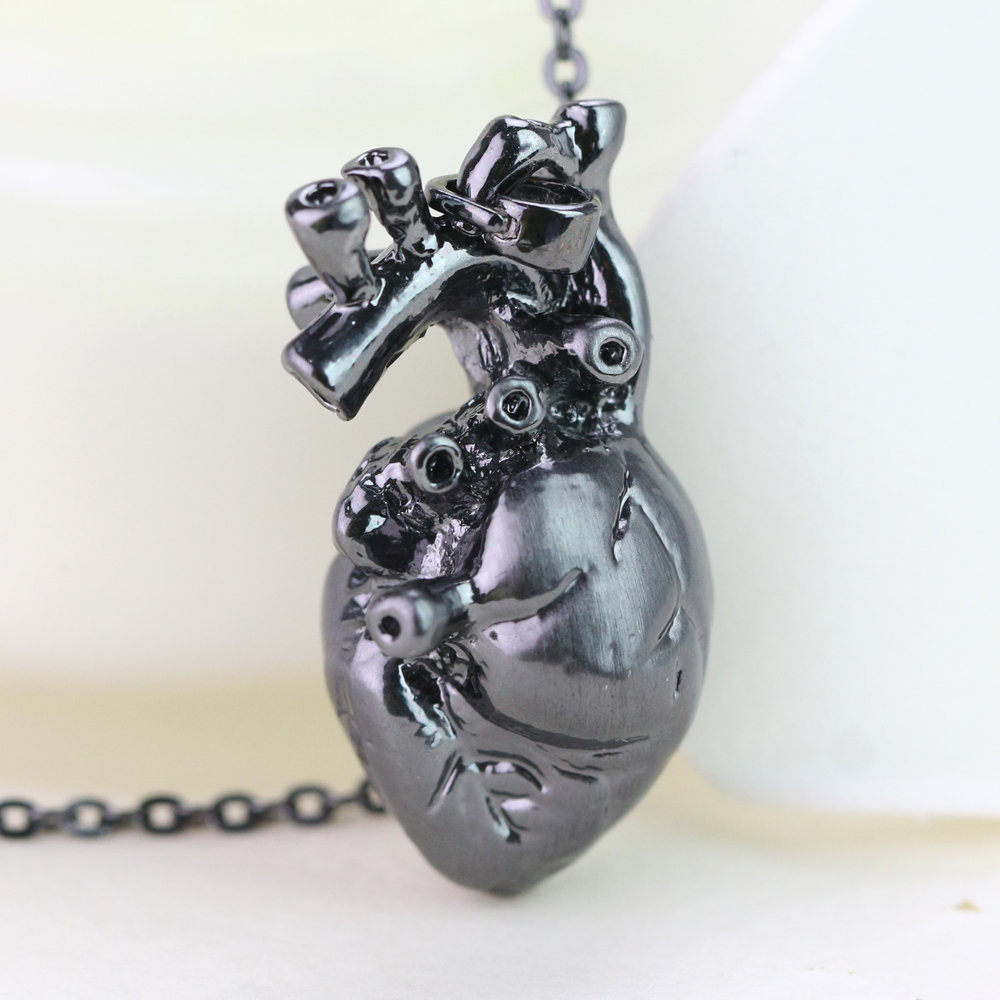Anatomically Pendant Human Heart Necklace Science Biology Nes
