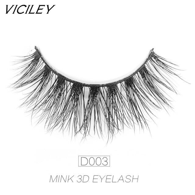 e0bc798dcb5 VICILEY Mink Eyelashes 3D handmade Mink lashes cilios False Eyelashes fake  Eye Lashes Extension for Beauty Makeup-D003