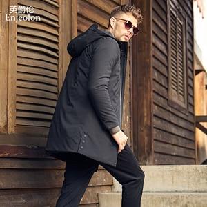 Image 4 - Enjeolon Brand Winter Thick Long Jacket Coat Men Long Coat Hoodies Men Jcaket Long Parka Jacket men warm 3XL Coat Men MF0624