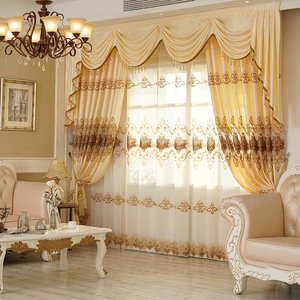 Image 2 - Curtains for Living Dining Room Bedroom New European Style Water Soluble Embroidery Curtain Tulle Valance for Windows Drapes