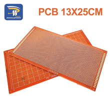 1pcs 13x25 cm 13*25cm Single Side Prototype 2.54mm PCB Breadboard Universal Experimental Bakelite Copper Plate Circuirt Board