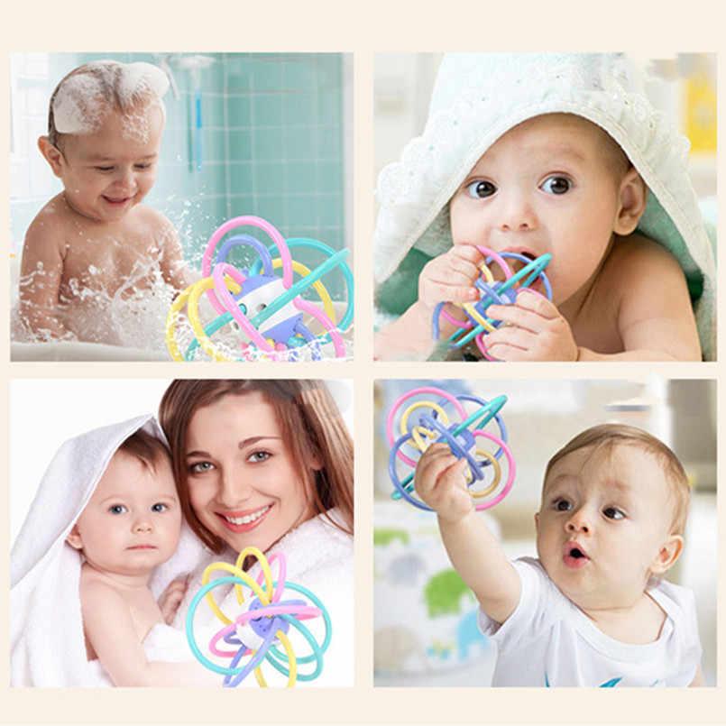 新生児開発ボール安全なソフト歯が生えるおもちゃプラスチックハンドベル早期教育ラトルおしゃぶり赤ちゃんおもちゃ 0-12 ヶ月
