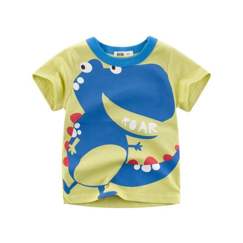 T-shirts For Boys <font><b>tshirt</b></font> <font><b>Dinosaur</b></font> Kids Clothes Jurassic Shirts Green Blue T Shirts For children Short Sleeve Top Tee image