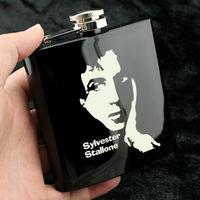 Personalizado Presente Da Lembrança De Sylvester Stallone Estrela de Hollywood Para Os Fãs de Cinema Cara Duro Metal 6 Onça Hip Flask Portátil