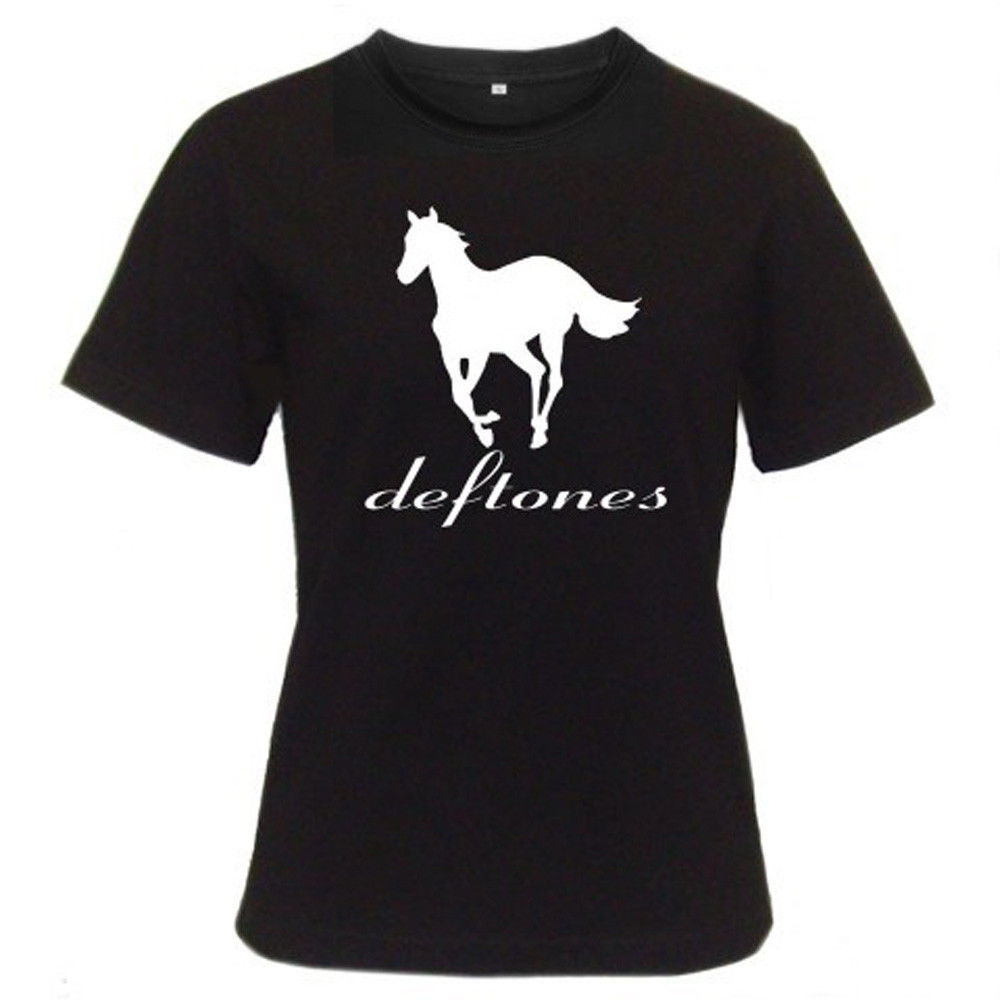 T shirt deftones white pony - 2017 New Arrival New Deftones White Pony Rock Band Logo Wo Design T Shirt Hipster