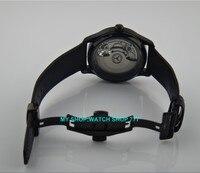 43mm parnis merk Automatische Self-Wind machines beweging vlinder gesp Mechanische horloges pvd mannen horloges groothandel o49