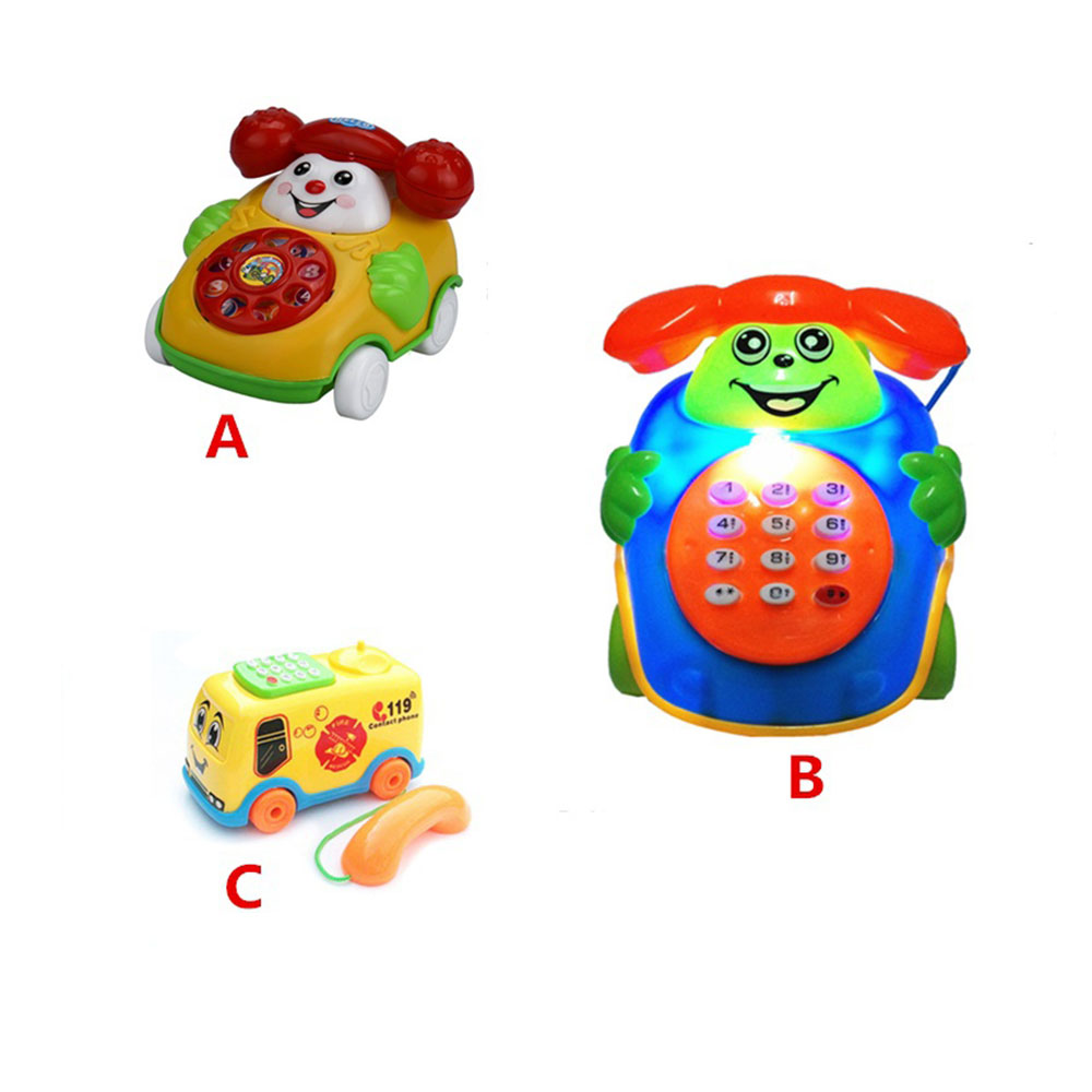 Educational Educational Phone Plastic Music Education Cartoon Phone Intelligence Developmental Phone Toys