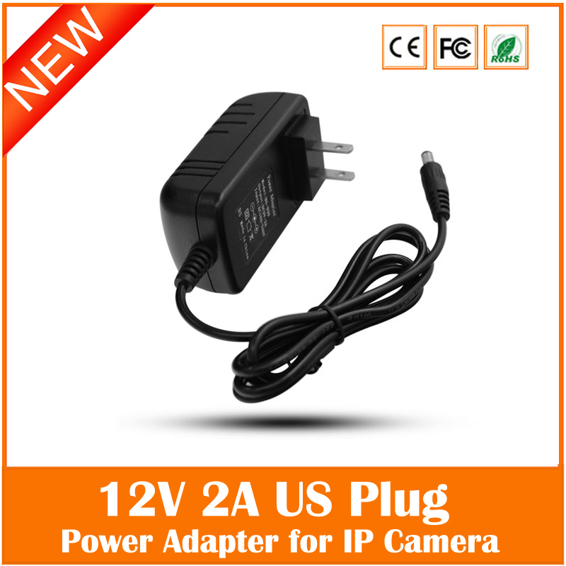 Universal Us Plug 100v-240v 12v 2a Power Supply Adapter For Security Cctv Ip Camera Led Strip 5.5*2.1mm Freeshipping Special купить